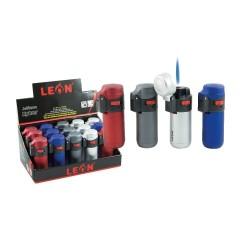 Lighters Leon Windproof Metallic Barel Jetflame 170225