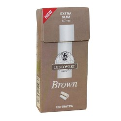 FILTERS DISCOVERY BROWN EXTRA SLIM 5.7mm 120 PCS