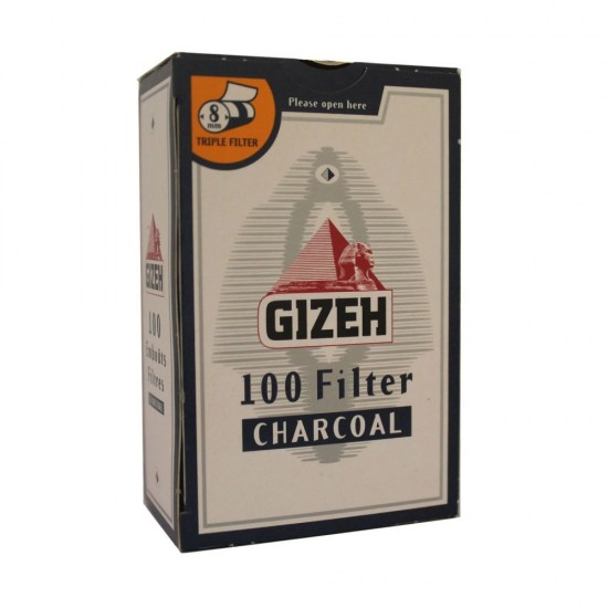 FILTERS GIZEH 8mm WITH CARBON 100 PCS