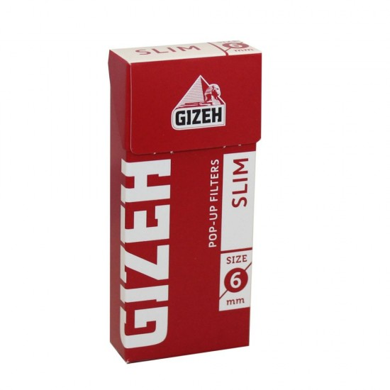 FILTERS GIZEH SLIM 6mm 102 PCS