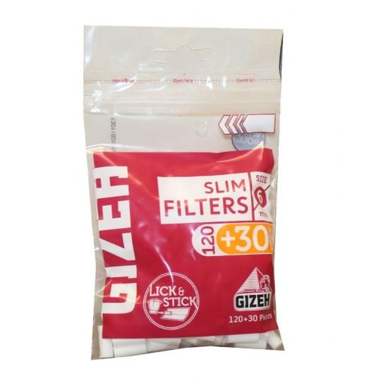 FILTERS GIZEH SLIM 6mm 150 PCS