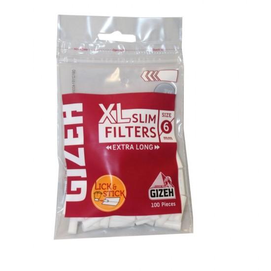 FILTERS GIZEH SLIM 6mm EXTRA LONG 100 PCS