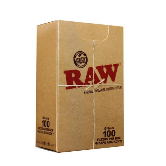 FILTER RAW COTTON REGULAR 100 PCS