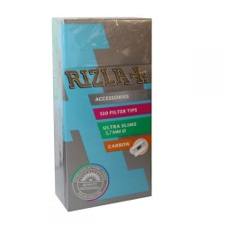 RIZLA ULTRA SLIM FILTERS 5.7mm WITH CARBON 120PCS