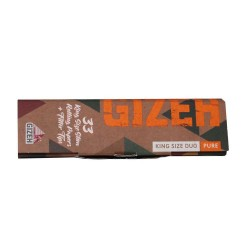 GIZEH DUO PURE KING SIZE CIGARETTE PAPER + TIPS