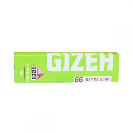 GIZEH GREEN LITE EXTRA SLIM SUPER FINE 66 SHEETS CIGARETTE PAPER