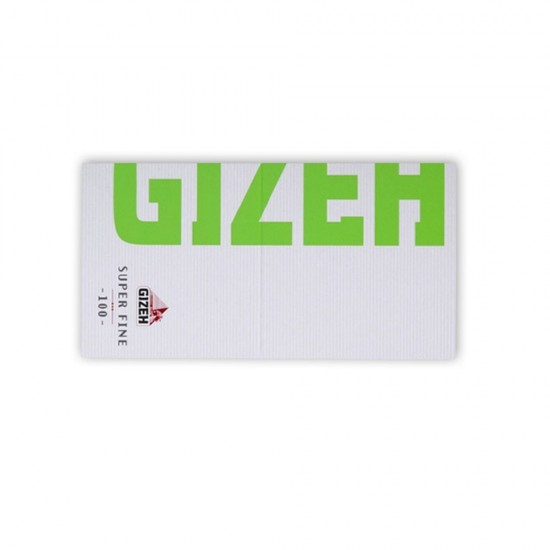 GIZEH MAGNETIC SUPER FINE GREEN 100 SHEETS CIGARETTE PAPER