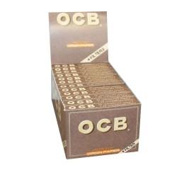 OCB UNBLEACHED 1, 1/4 CIGARETTE PAPER + TIPS