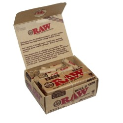 RAW CLASSIC 3m ROLL CIGARETTE PAPER + READY TIPS