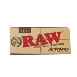 RAW CLASSIC KING SIZE SLIM  CGARETTE PAPER + TIPS ARTESANO
