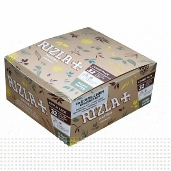 RIZLA NATURA KING SIZE CIGARETTE PAPER + TIPS